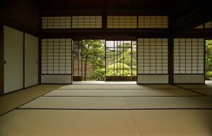 Japanisches Haus von innen