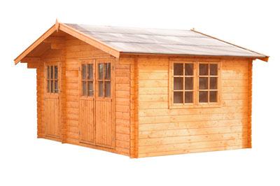 Ein Gartenhaus Als Blockhaus ? Funktionaler Raum Für Vielfältigen ... Blockbohlenhaus Im Garten Funktional Ausenbereich