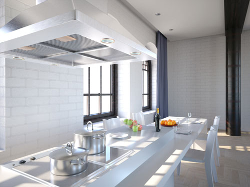 mit einer abzugshaube entstehen keine blen ger che. Black Bedroom Furniture Sets. Home Design Ideas
