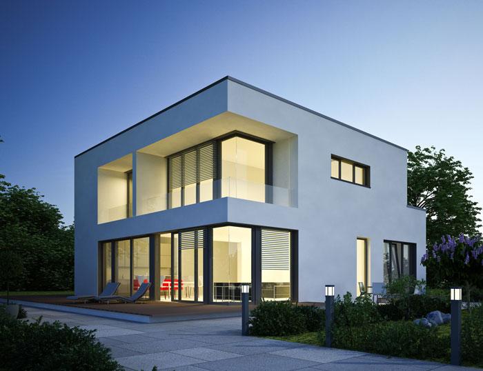 Puristische architektur vereint mit offenem raumkonzept ist die leichtigkeit des seins - Architektur kubus ...