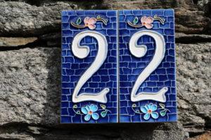 Emaille Hausnummernschild