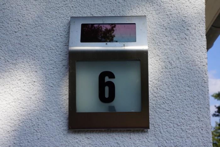 Hausnummer mit Beleuchtung