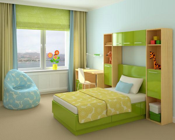 Kinderzimmer-gruen