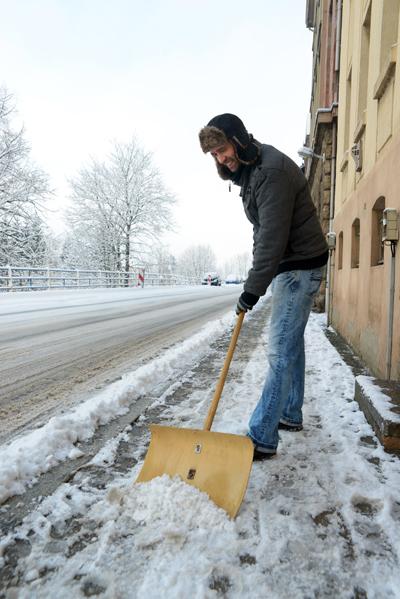 Streupflichten bei Schneefall und Glatteis