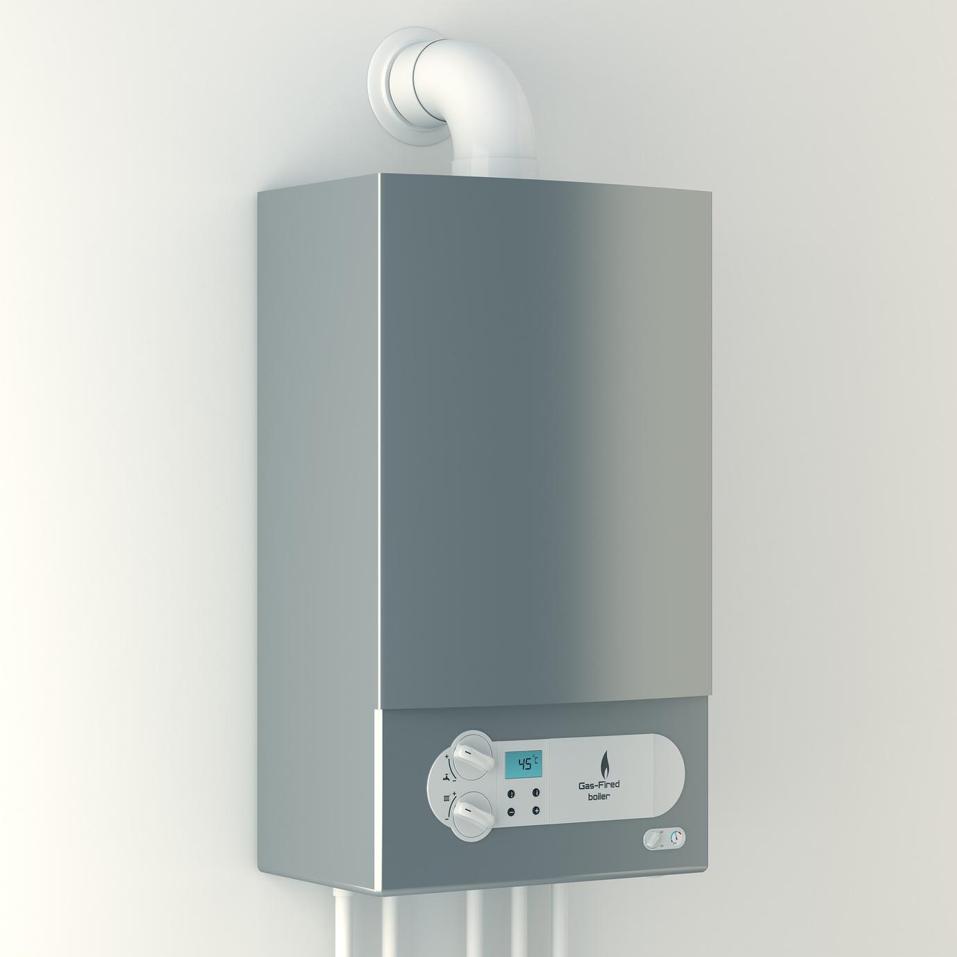 Eine Gastherme für Warmwasser und Heizung