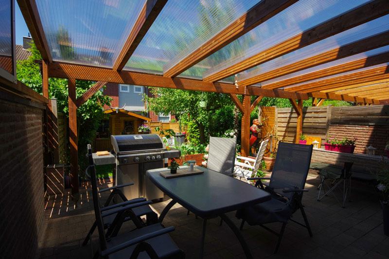 Eine Terrassenüberdachung bauen