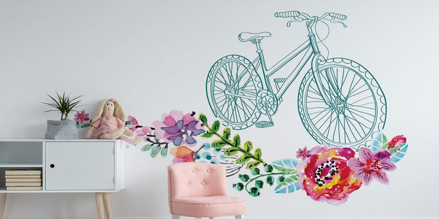 Sticker mit Fahrrad – eine Dekoration für Fans des Zweirads