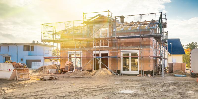 Rohstoffe beim Bau von Immobilien