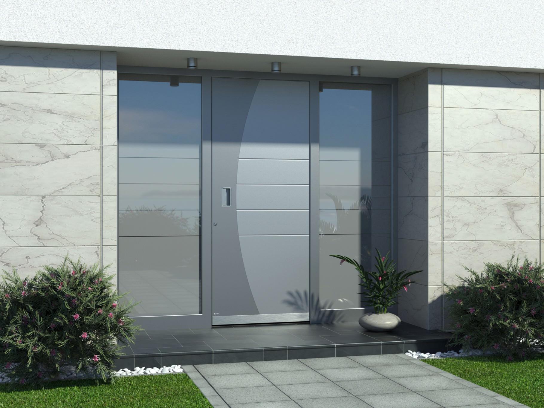 Vergleich zur besten Haustür: Kunststoff, Holz vs. Aluminum