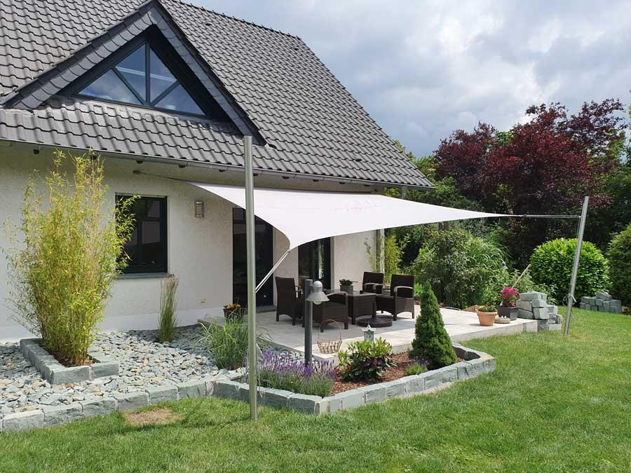 Das Sonnensegel als bezahlbare Alternative zum Terrassendach