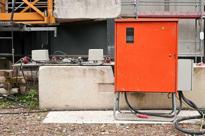 Stromversorgung auf Baustellen