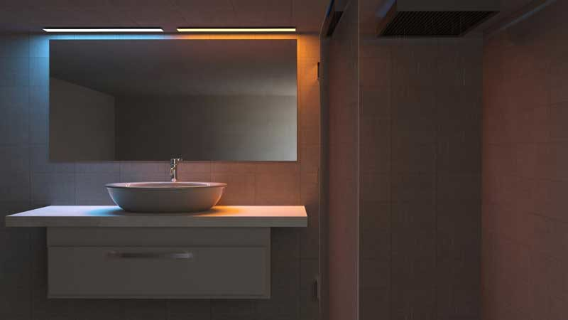 Beleuchtung beim Thema Badrenovierung bedenken